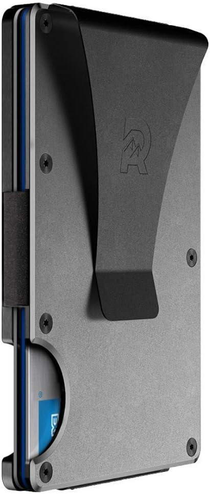 The Ridge Slim Minimalist Front Pocket RFID Blocking Metal Wallets for Men with Money Clip
