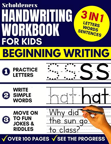 Handwriting Workbook for Kids: 3-in-1 Writing Practice Book to Master Letters, Words & Sentences ()
