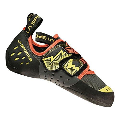 La Sportiva Oxygym Climbing Shoe Carbon/Sulphur, 47.0 by La Sportiva Usa