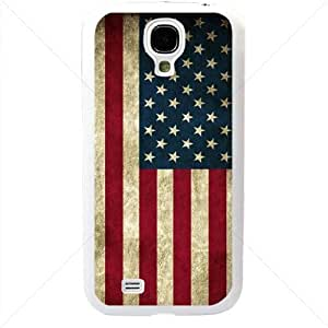 United States of America American Flag for Samsung Galaxy S4 SIV I9500 TPU Soft Black or White case (White)