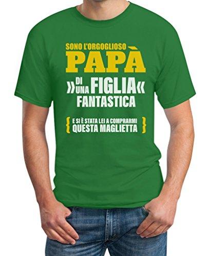 Sono T shirt L'orgoglioso Papà Una Regalo Fantastica Uomo Figlia Maglietta Verde Di ffrqn0pA