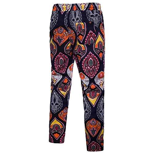 - HYIRI Men's Trousers Harem Loose Fit Sweatpants Slacks Casual Jogger Sportwear Baggy Comfy Pants Navy
