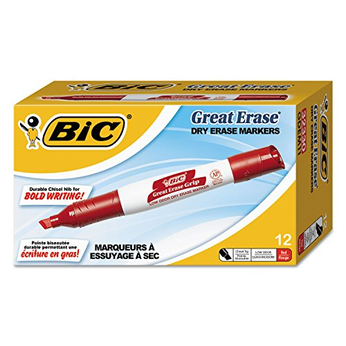 (BICGDEM11RD - BIC Great Erase Whiteboard Marker )