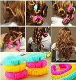 MAZIMARK--Hairdress Magic Bendy Hair Styling Roller Curler Spiral Curls DIY Tool 8 Pcs