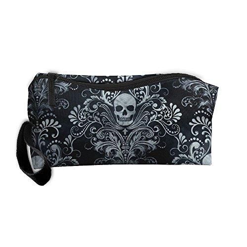 Sugar Skull Makeup Bag Zipper Organizer Case Bag Cosmetic Bag Pencil Case Tool Kit Amazing Gift