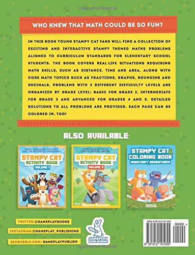 Stampy Cat Maths Problems For Elementary School Gameplay Publishing 9781912191055 Amazon Books