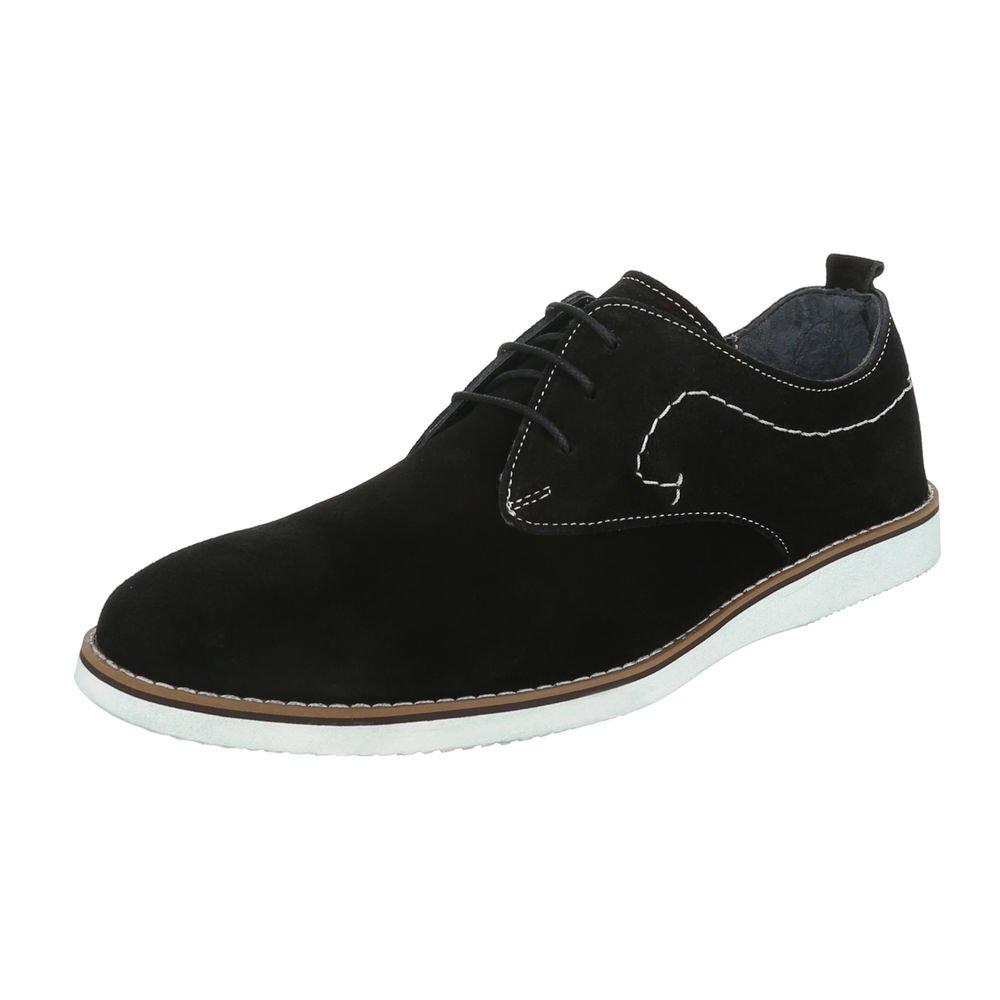 TALLA 41 EU. Ital-Design - Zapatos Planos con Cordones Hombre