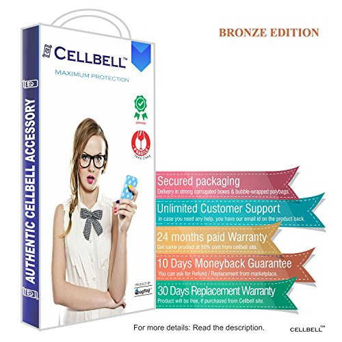 Cellbell-Premium-Xiaomi-Mi3-Clear-Tempered-Glass-Screen-Protector-Comes-with-WarrantyUser-guideComplimentary-Prep-cloth-Bronze-Edition
