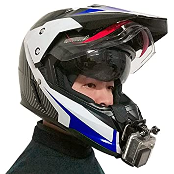 Motorcycle Full Face Helmet Chin Mount For All Gopro Hero And Sjcam Action Camera