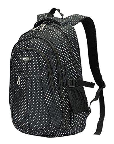 Girl Multipurpose Dot Primary Junior High University School Bag Bookbag Backpack (27 Liters, ()