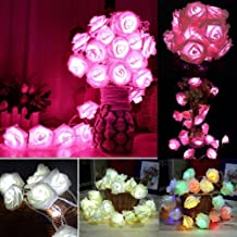 20 LED Rose Flower Battery Operated Fairy String Light Xmas Bedroom Decor Party