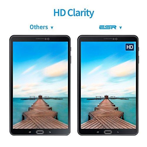 ESR Samsung Galaxy Tab A 10.1 Screen Protector [SM-T585( T580/T580N)], [2 Pack] 0.33mm [9H Tempered Glass][Bubble-Free] Anti-Scratch Anti-Fingerprint/Oil/Smudge for Samsung Galaxy Tab A 10.1 by ESR (Image #4)
