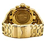 Invicta Mens 0072 Pro Diver Collection Chronograph 18k Gold-Plated Watch, Gold/Black