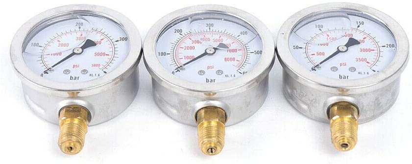 Hydraulic Excavator Pressure,Test Kit Pressure Test Guage Coupling 8000 PSI for Mining//Machine//Construction