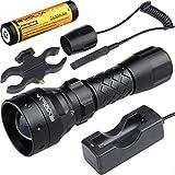 EVOLVA FUTURE TECHNOLOGY T38 IR 38mm Lens Infrared Flashlight Light Night Vision Torch (Torch+Battery+Charger+Rat Tail+Torch Mount)