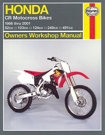 amazon com haynes honda cr250r 500r 86 01 repair manual 2222 rh amazon com 1999 Honda CR250R Honda CR250 Years