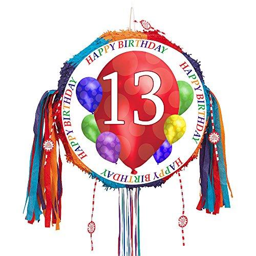 13TH BIRTHDAY BALLOON BLAST PULL PINATA (13th Birthday Plates)