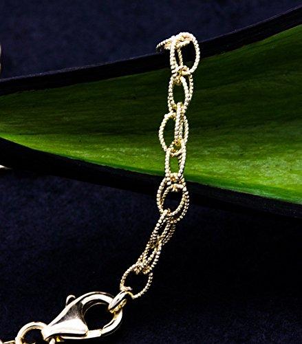 ASS ancre weitpanzer bracelet en or jaune 585 longueur 19 k baltique striée 14 mm