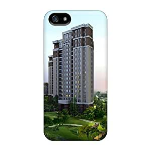 LastMemory Iphone 5/5s Well-designed Hard Case Cover Towers Gardens Lakes Protector
