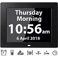 Véfaîî Reloj Digital Calendario de Día Alarma Grande