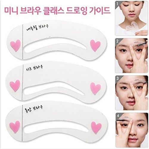 eDealMax 3 Estilo del dibujo de cejas Brow Tarjeta Maquillaje y esttica de la plantilla Plantilla Shaping