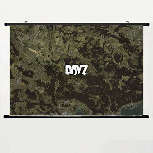 Popular And Unqiue Designed Home Decor Art Game Poster With Dayz Map Wall Scroll Poster Fabric Painting 24 X 16 Inch (60cm X 40 cm)