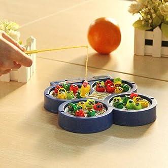 Children Kid Educational Toy Electric Rotating Magnetic Fishing Toy // Los niños juguetes educativos eléctrica rotativa juguete pesca magnética