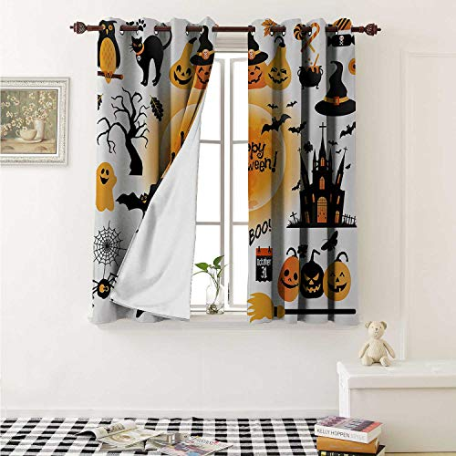 Flyerer Halloween Customized Curtains All Hallows Day Objects