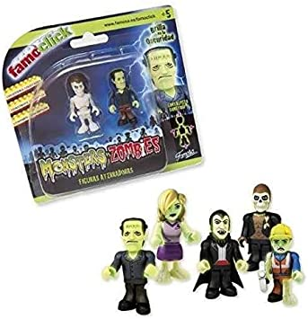 FEBER Famoclick Monster Vs Zombies Pack 2 Figuras: Amazon.es ...