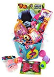 Happy Easter Trolls Basket Kids Girls Girl Toddlers Filled Unique Stuffers Themed Prefilled Gifts Children Eggs Goodies Plastic Premade Birthday Baskets Gift Egg Toddler Gifts Themed Set Artificial Gr