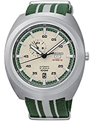 SEIKO 5 Diastar Sports 100M Retro Automatic Green Beige Nato Watch SSA285K1