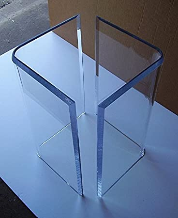 Acrylic U0026quot;Vu0027su0026quot; Or Boomerang DINING TABLE BASES (2) Clear Lucite  Plexiglass