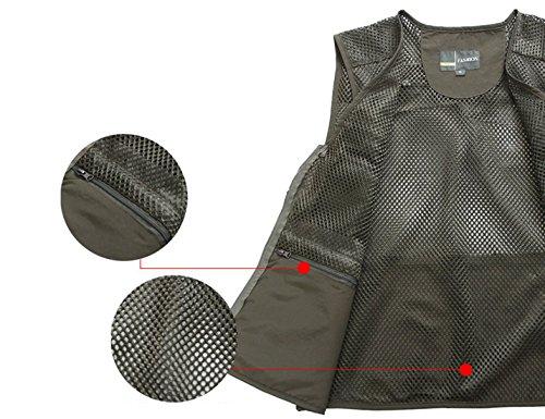 Zhusheng Men's Mesh 16 Pockets Photography Fishing Travel Outdoor Quick Dry Vest Breathable Waistcoat Jackets