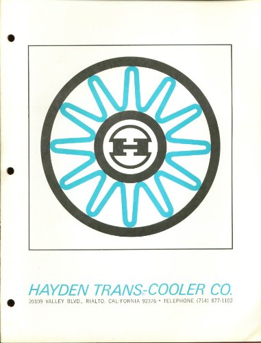 Exchange Unit - Hayden Trans-Cooler Heat Exchange Units brochure 1968
