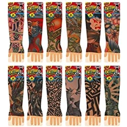 Ja-ru Totally Tattoo Sleeve Party Favor(pack of 3)assorted
