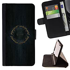 For Sony Xperia M2 LOTR Ring Beautiful Print Wallet Leather Case Cover With Credit Card Slots And Stand Function