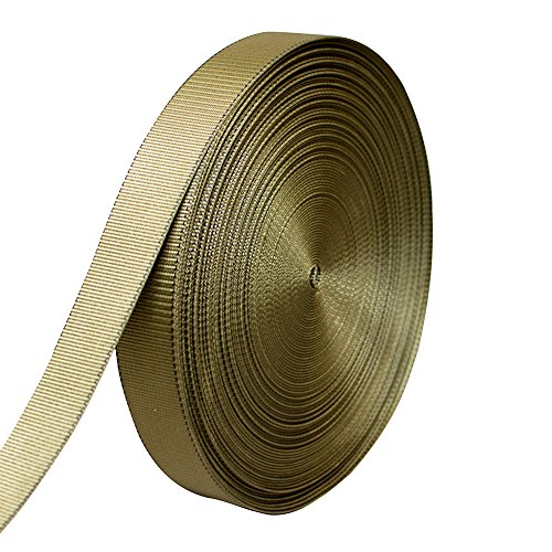 AMP 5000lbs Rated Heavy Duty Mil Spec Military Grade Nylon Fastening Webbing Strap 2'' Wide 50 Yards Coyote Brown/Black by AMP