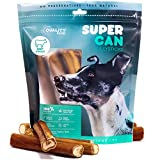 SUPER CAN BULLYSTICKS 6-inch Prime Bully Sticks for Dogs, 100% Natural Treats and Chews Sourced from The Finest Free Range Grass Fed Beef (6-inch Jumbo Bully Sticks [ 10ct / 12.34 oz])
