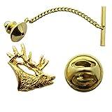 Elk Tie Tack ~ 24K Gold ~ Tie Tack or Pin ~ Sarah's Treats & Treasures
