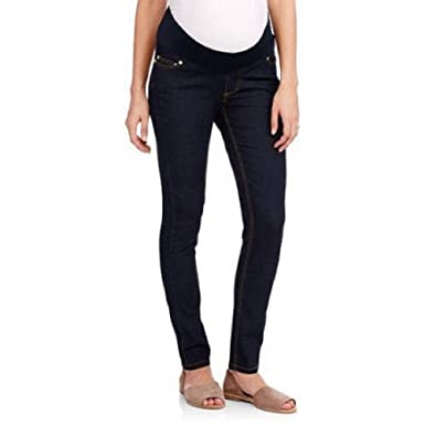 735bc791d0823 Image Unavailable. Image not available for. Color: Oh! Mamma Demi-Panel  Super Soft Skinny Maternity Jeans Size Large