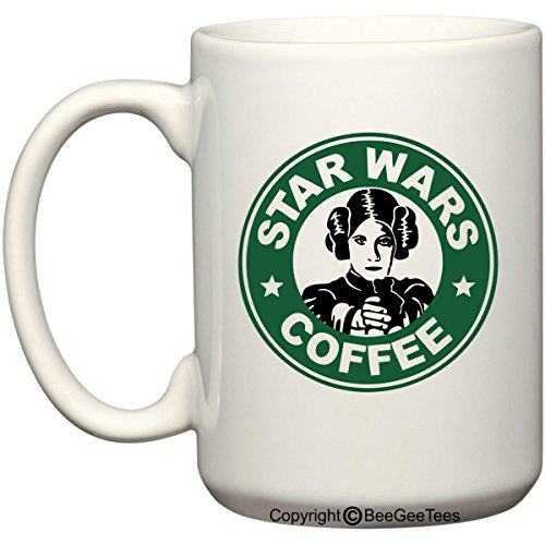 Star Wars Princess Leia Coffee Mug or Tea Cup Funny Starbucks Carrie Fisher 11 oz or 15 oz Cup by BeeGeeTees (15 oz)