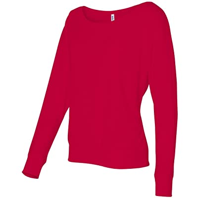 8850 Bella + Canvas Women's Flowy Long-Sleeve Off-Shoulder Tee