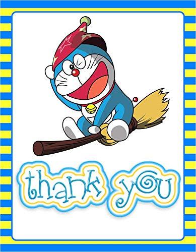 Doraemon Theme Thank You Tags (10 Pieces) for Doraemon Theme