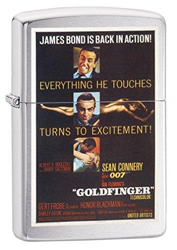 Zippo Lighter: James Bond 007 Goldfinger - Brushed Chrome 79344