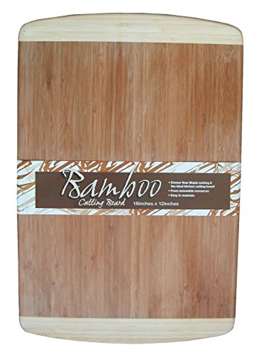 Durable Eco Friendly 18 x 12 Inch Bamboo Cutting Board Looks Great In Any Kitchen Setting