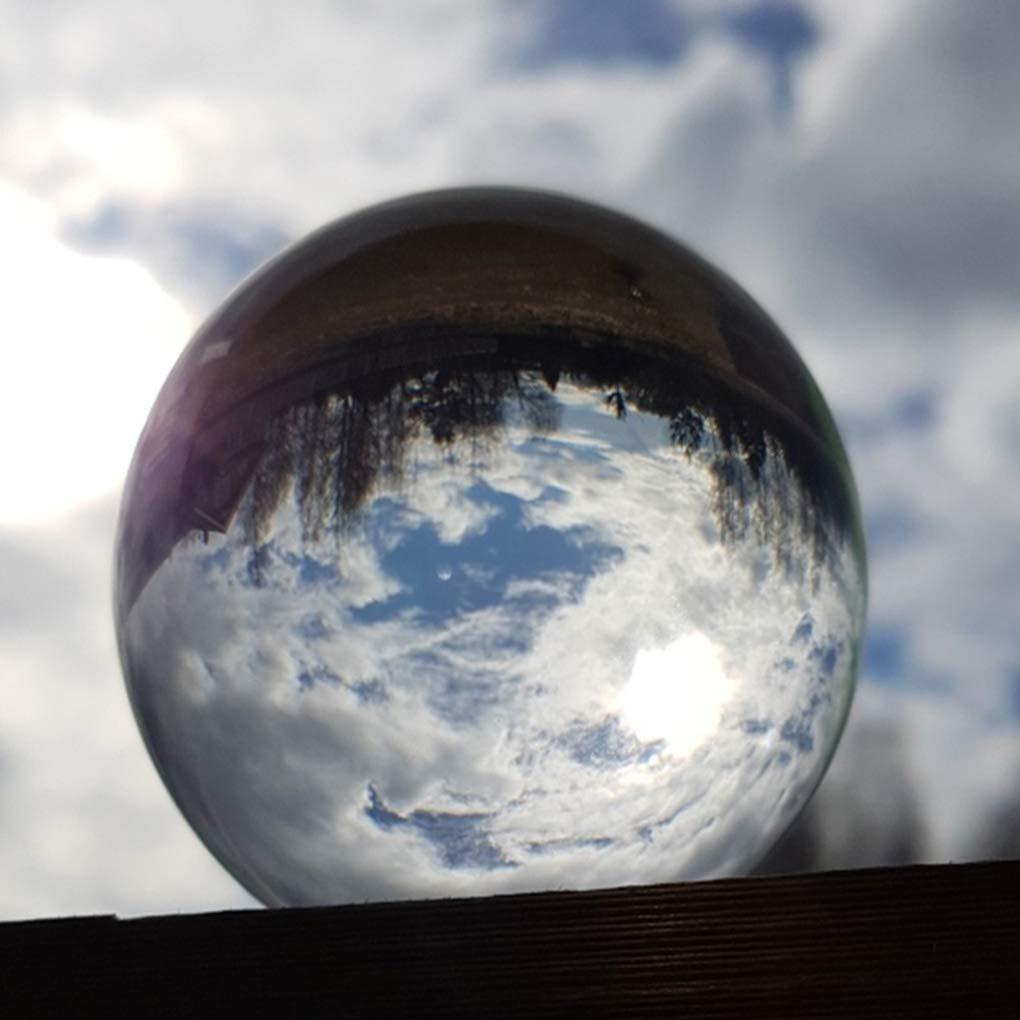 100cm Uzinb Decoraci/ón Artificial Esfera de Cristal Claro Bola de Cristal Home Hotel Oficina de Escritorio 60//80