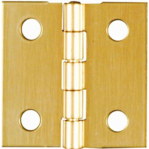 Stanley Solid Brass Miniature Broad Hinge, 1