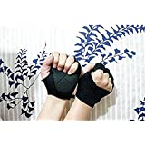 Tsptool Black Gym Body Building Training Fitness Gloves Sports Weight Lifting Gloves Exercise Cycling For Men And Women Fitness Sports Half Finger Gloves GYM Weight