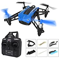 Beyondsky RC Drone with 720P HD Camera, Heliway Elfie Pocket WIFI FPV Mini Quadcopter RTF 2.4GHz 6-Axis Gyro with Headless Mode Wind Resistance Altitude Hold - Blue