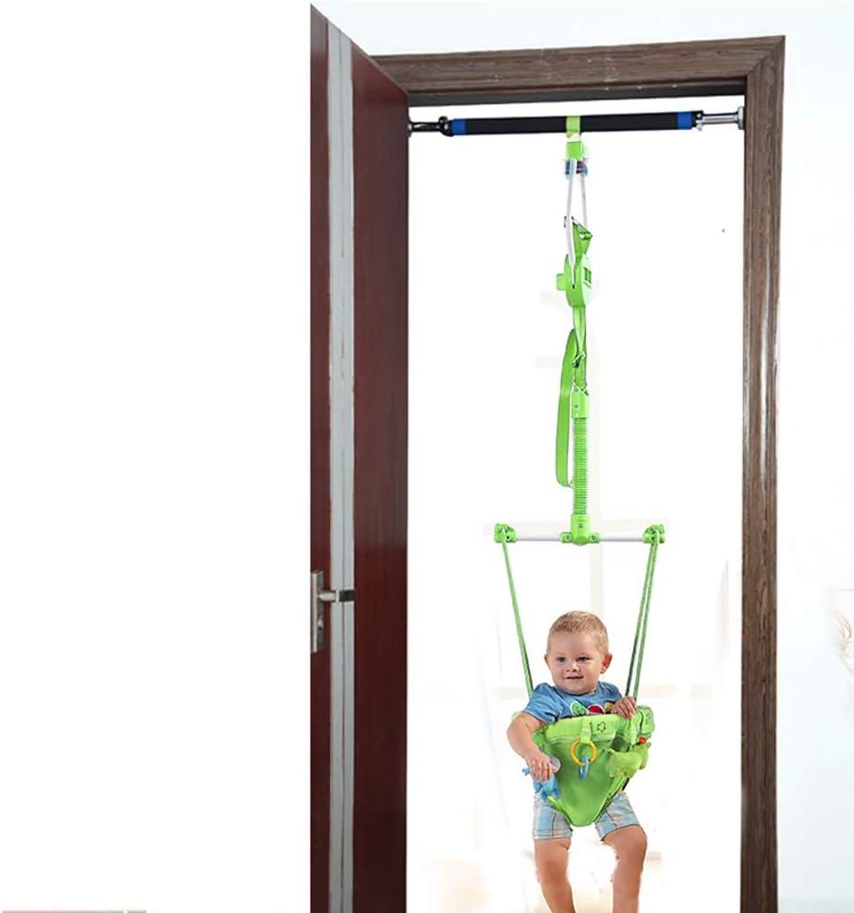 ベビージャンパー 幼児キッズ子供のおもちゃ、ドアジャンパー&クロスバー、グリーンのためのクロスバー、赤ちゃんの戸口バウンスジャンプウォークエクセ屋内屋外で赤ちゃん戸口ジャンパー